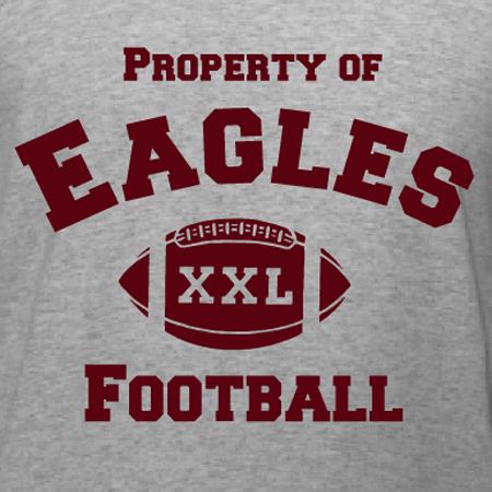 Property Of Eagles Football TShirt Design DesignAShirtcom - Property of t shirt template