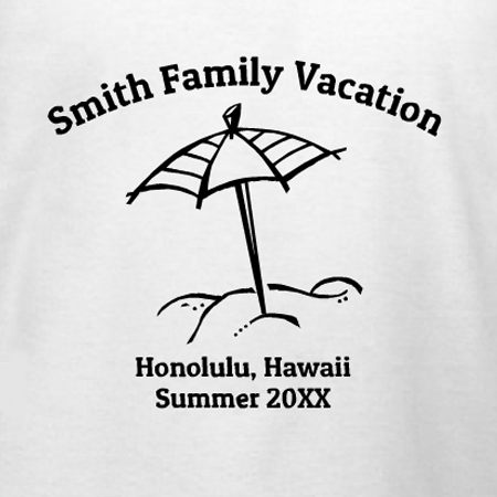 Hawaii Family Vacation T Shirt Design Designashirt