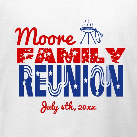 Stars And Stripes Family Reunion T Shirt Design Designashirt